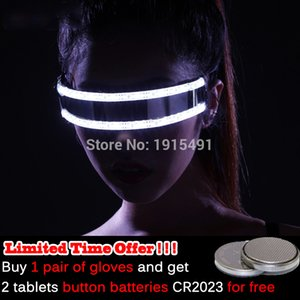 Hot Sale Flashing Rave Light Glasses LED Strip Sunglasses for Festival Party Gifts 6 colors select Powered by CR2023