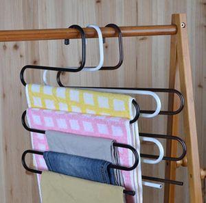 S Shape Hangers Metal Hanger For Pants Magic Multi -Layer Cloth Hangers