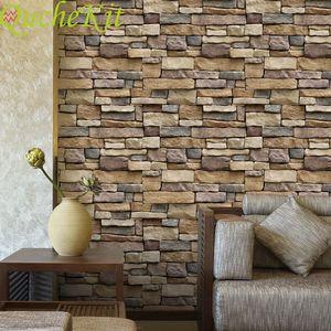 Stone tile wallpaper sticker 124,45cm * 10m, waterproof wallpaper sticker, brick bottom sticker, Decorative Art Sticker, for housing use