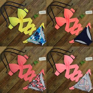Spor Loja de Biquíni 2020 Cross Stripe Mulheres Swimwear Swimwear Swimsuit Halter Print Maillot de Baquini Biquini Ternos de Banho XXL Q1222