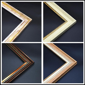 4 Color DIY Frame Faux Wood PS Foam Diamond Painting Frame Canvas Poster Oil Painting Home Wall Decor Hanger Factory Supply
