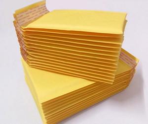 Différentes tailles de vêtements de sac à bulles en papier kraft d'emballage jaune épaississement film à bulles sac de mousse express emballage d'enveloppe de bulle wholesal