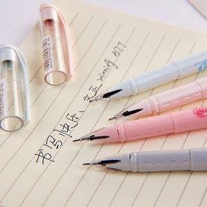 4pcs / set 0,5 milímetros novidade foguete Pens Gel Pen bonito papelaria Preto Student Escola Escrever Escritório canetas esferográficas Atacado JAXB #