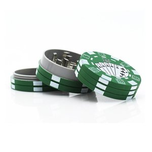 Newest Poker Style Herbal Grinders Three Layers Tobacco Grinder Herb Hand Muller Cigarette Crusher Smoking Pipe Accessories Red Green Black