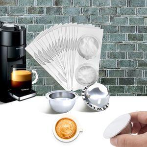 Nachfüllbar Vertuoline Edelstahl Reusable Mit Seals Nespresso-Kapsel Vertuo Kaffeefilter Cup 1021