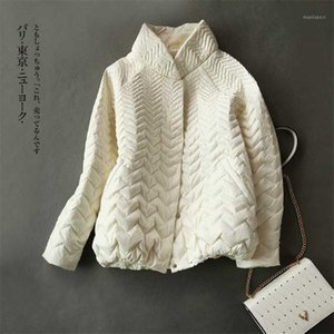 High quality fashion short white duck down jacket women 2020 new Japanese autumn winter thin coat boutique clothing female K2631