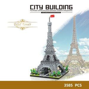 العالم برج إيفل الشهير في باريس، فرنسا بناء كتلة مصغرة نانو نموذج جمع لعبة الطوب