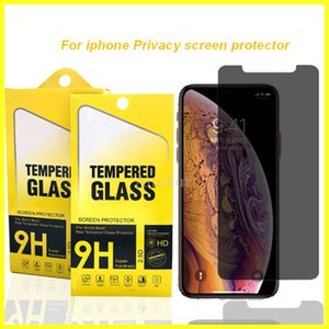 Privacy Screen glass, Privacy Screen protector For iPhone 12 11 Pro Xs Max X XR 7 8 tempered glass For Samsung J7 J5 with Paper Box