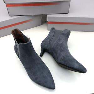 Melhor Qualidade Moda Luxo Mulheres Sapatos Genuíno De Couro Designer Senhora Vestido Botas Casuais De Salto Heeled Outter Cattle Skin Skin Forro de Ovelhas Pele