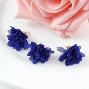 20pc Mini Mini Playa de flores de gasa para Boho Jewelry DIY Craft Making Supply Pulsera Collar Pendiente Encontrar accesorios H Jllyea