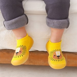 Baby Girls Non-Slip Toddler and Boys Chunky Floor Socks Animal Style Sock Shoes Y201001