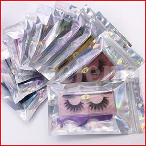 20 estilos falso 3D Mink pestañas con la pestaña de las pinzas del cepillo de la pestaña falsa de extensión de la luz suave 3d Mink Pestañas Maquillaje de imitación de visón Lahes Kit