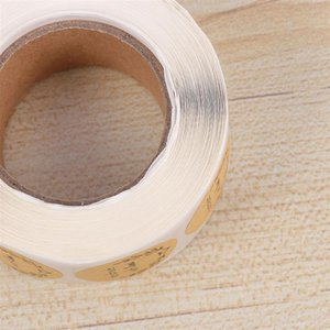 500 Sheets  roll Round Label For Party Gift Packing Decorative Cute Sealing Sticker Label Sticker For Packing Bag Gift Box A35 sqchWC