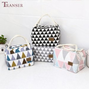 1pcs Pattern Cooler Lunch Box Portable Insulated Canvas Lunch Bag Thermal Food Picnic Travel Convenient Lunch Bags For Women