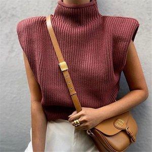 Vinho Moda BLSQR Red malha Colete Mulheres gola Feminino Vest Sweater Vintage da colheita Tops pulôver Chic