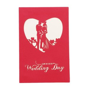 3D Cards Paper Craft Greeting Cards Invitations Valentine Lover Love Romantic Birthday Wedding Anniversary Greeting Card