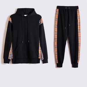 Moda erkek tasarımcı moncl spor spor erkek Hoodie + pantolon rahat kaliteli ceket 2020 yeni kadın iki parçalı set çalışan