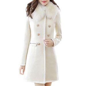 Stylish Bar Autumn Winter Jacket Women Wool & Blends Lapel Coat Outerwear Windbreaker Coats Warm Thicken Female Slim Fit Jackets