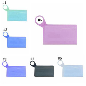 Silicone Mask Storage Box Temporary Storage Clip Folded Portable Travel Household Mask Case Waterproof Container Masks Holder DDA532