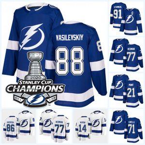 Andrei Vasilevskiy Tampa Bay Lightning 2020 Stanley Cup Champions Jersey Blake Coleman Ondrej Palat Patrick Maroon Luke Schenn