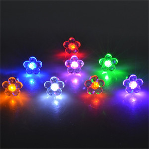 Stud Earrings Wholesale Flower Shape LED Earring Light Up Bling Ear Studs Earrings Dance Party Channel Earrings 102 O2