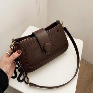 Olsitti Mode Steinkornkette Umhängetaschen für Frauen 2021 Designer Hochwertige PU-Leder Messenger Bag Concis Handtaschen