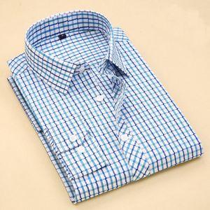 High Quality Casual Men's Classic Plaid Shirt Long Sleeve Dress Shirt Men Business Formal Shirts Mens Clothing Camisa Masculina