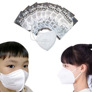 KN95 Kid Child Face Masks Disposable Mask Non-woven Fabric Dustproof Windproof Respirator Anti-Fog Dust-proof Outdoor Masks
