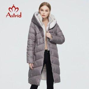 Astrid 2020 Yeni Kış Kadın ceket kadınlar kürk uzun sıcak parka moda Ceket Biyo-Aşağı kadın giysileri 6710 kapüşonlu