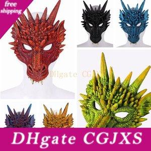 Gras Party miedo máscaras de Halloween Mardi mezcla del color de la PU que hace espuma 3D Full Face Mask adultos animales Dragón Festival de suministros