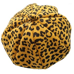 1pc Niños Beret Girls Cap, Leopard Kids Beret for Kids Outdoor Gift1