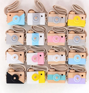 Cute Wooden Toy Camera Baby Kids Hanging Camera Photography Prop Decoration Children Educational Toy Birthday Christmas Gifts KKA8115