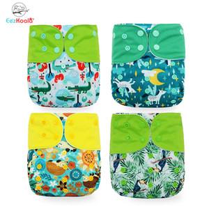 Eezkoala 4 teile / satz Tuch Windel Umweltfreundliche Fast Trockenwaschbare Baby Tuch Abdeckung Wiederverwendbare Babytasche Nappy 201117