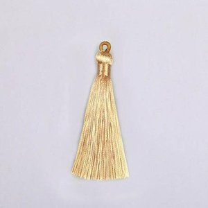 10pcs 8cm Colorful Polyester Silk Tassel With Pull Ring For Hanging Earring Charms Making Diy Jewlery Pendants Accessories H bbyNLQ