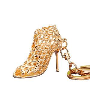 New sapatos de salto alto Keychain Rhinestone Car Key Rings Mulheres Bolsa Encantos Chaveiros Titular Chaveiros Crystal Fashion Key