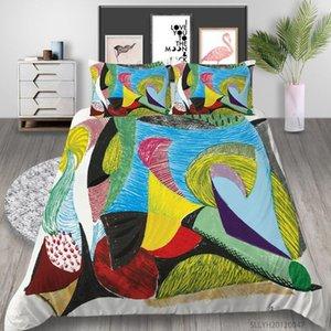 3D постельное белье набор роскошные одеяла набор уникальный кровать для подростков для подростков взрослый творческая живопись печати модный Healend1