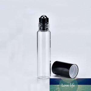 24pcs / Lot 5 ml Frasco de perfume de vidro rolo vazio na garrafa de rolo para óleos essenciais pequeno roll-on recarregáveis Desodorante Containers