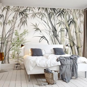 Custom Hand Painted Watercolor Bamboo Forest Art Wall Painting Bedroom Living Room Restaurant Decoration 3D Wall Mural Wallpaper