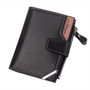 2020 Business Zipper Bag Short Vertical Multi Mens Coin Casual Male Folding Wallet Purse Buckle Triangle Function Kgrpl