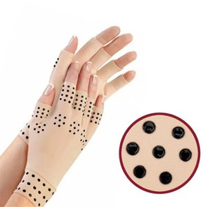 Luvas de Terapia Magnética Artrite Luvas Sem Fingerless Luvas Dor Relevo Heal Articulações Suporta ferramenta de cuidados de saúde