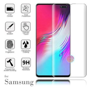3D Curved Full Glue Tempered Glass For Samsung S20 Note20 S9 S8 Plus Note8 Full Adhesive Screen Protector Case Friendly With Package