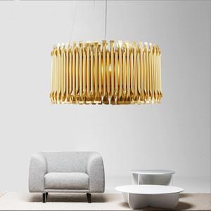 Modern Aluminum LED Pendant Light Nordic Gold Hanging Light Home Living Room Hotel Decor Lighting Fixture