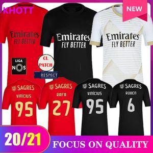 20 21 SL Benfica camisetas de fútbol tercer AUSENTE 2020 2021 RAFA jota Pizzi GRIMALDO Rúben T Seferovic Vinícius hombres de las camisas de fútbol uniformes