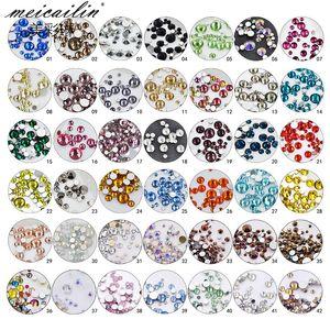 New Nail 42 mix sizes diamond flame 1440pcs per pack diamond Nail Sticker DIY Charm Lable wholesale Nails Decals Manicure Nail Art Decal