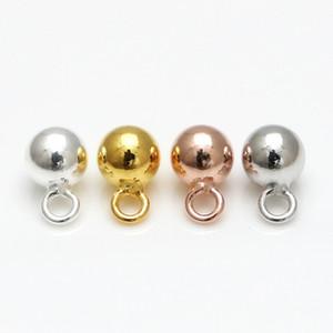 Mingxuan 5шт 4/5 мм 925 Серебряные серьги Клип Подвеска Claps Серебряный тон Bail Beads для заключений DIY Изготовление ювелирных изделий