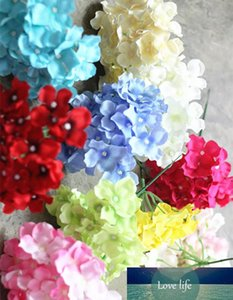 New Design Artificial Silk Hydrangea Flower Head Wedding Bouquet Decoration Or Diy Production Backdrop With Flowers 50pcs  Lot