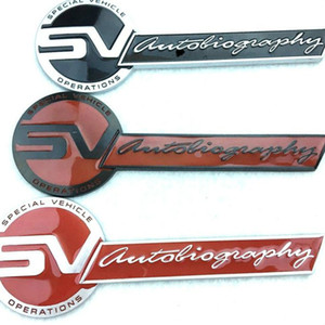 Metal SV-Autobio-graphy Logo Emblem Badge