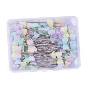50 100PCS Patchwork Needle Craft Flower Button Head Pins Embroidery Pins for DIY Quilting Tool Sewing Accessories1