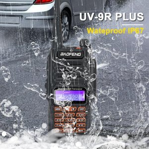 Rádio Baofeng UV 9R Além disso Ham Waterproof IP67 Dual Band VHF UHF FM 8W 128CH Walkie Talkie UV-9R Plus com mãos livres