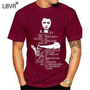 Lista manica corta o-collo casuale Arya Stark Valar Morghulis di Arya tsdfc Thrones maglietta camicetta superiore nera